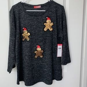 Love Scarlett Gingebread Sequin Top New With Tags